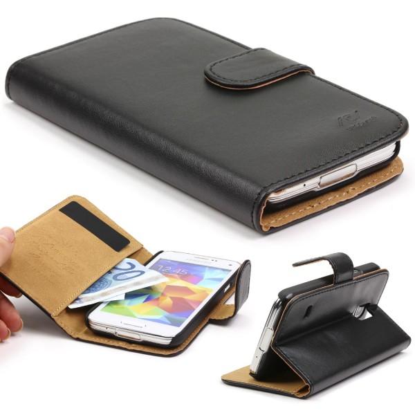 Samsung Galaxy S5 Mini Wallet Klapphülle Tasche Etui Cover Schutz Case
