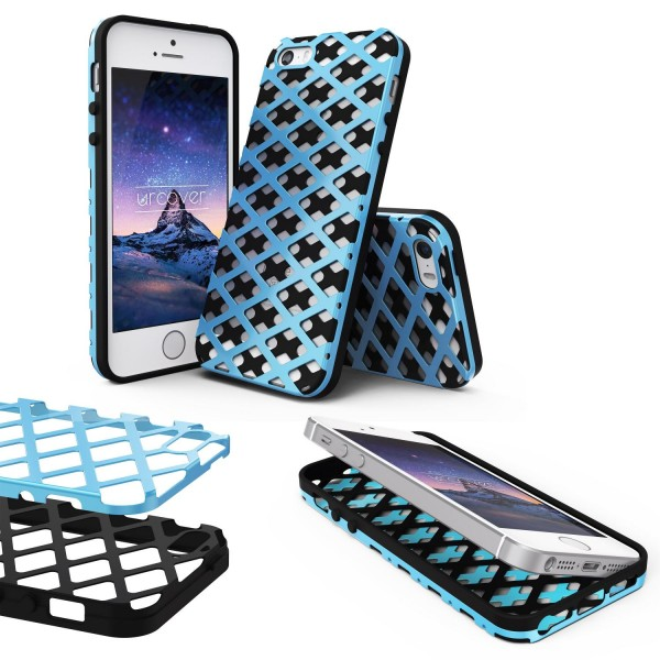 Urcover® Apple iPhone 5 / 5s / SE Handy-Hülle 2-teilig [PC/TPU] Dual Layer Cover
