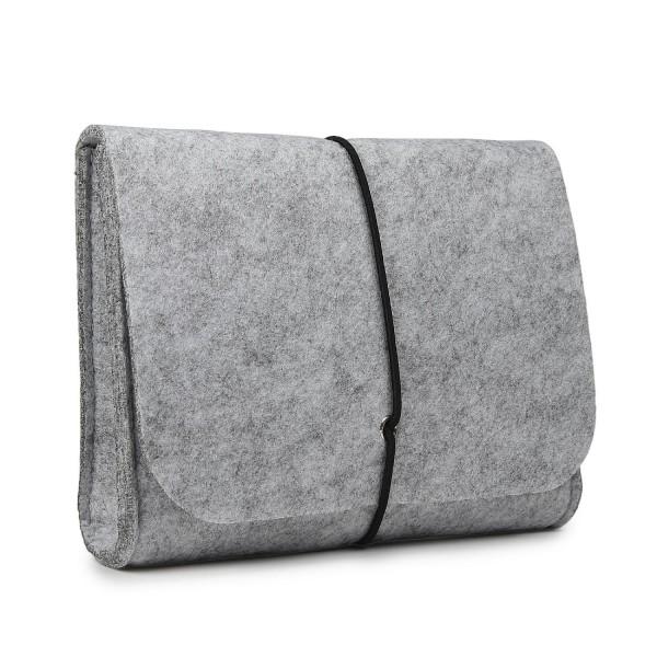 Urcover Filz Kosmetiktasche / Universaltasche, Kultur Tasche, Premium Grau