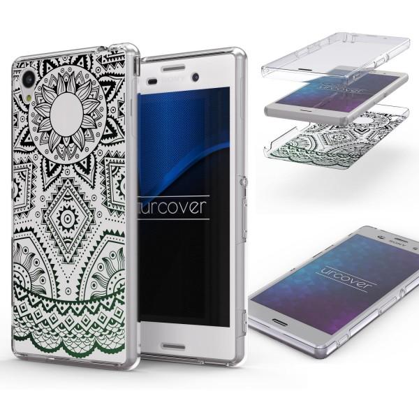 Sony Xperia Z3 360 Grad Mandala Rücken Hülle Case Cover Rundum Schutz TPU