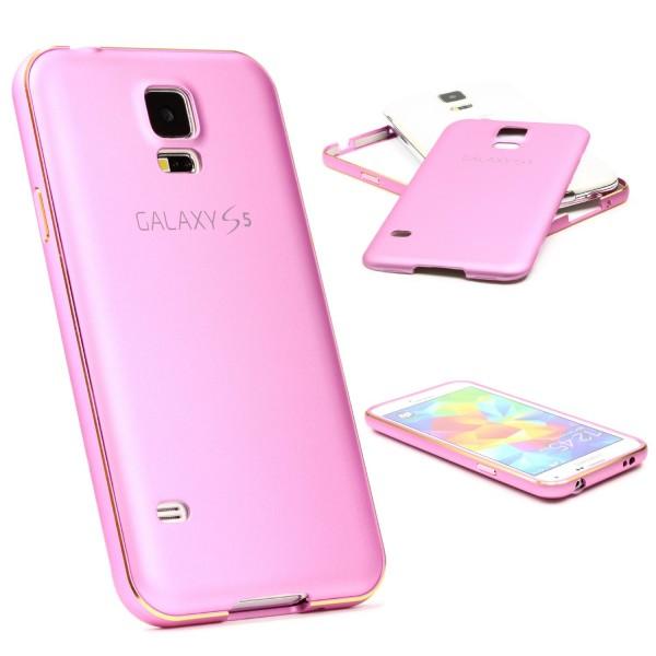 Urcover® Samsung Galaxy S5 Aluminium Schutz Hülle Bumper Slim Case Cover Etui