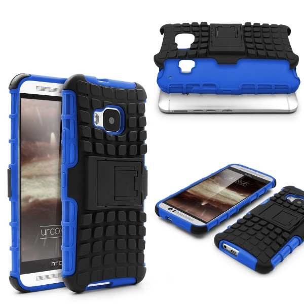 Urcover HTC One M9 Schutzhülle Wallet Flip Back Case Cover Dual Layer Shockproof