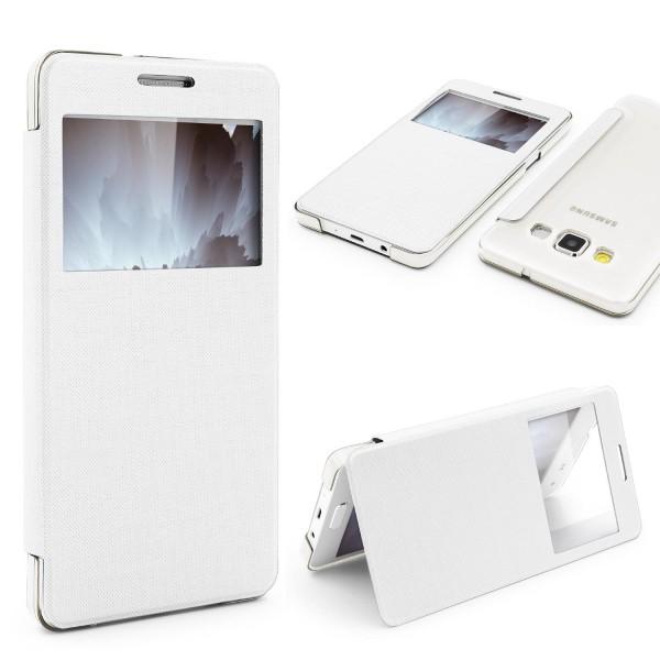 Samsung Galaxy A3 (2015) View Case Sichtfenster Cover Handy Schutz Hülle Tasche