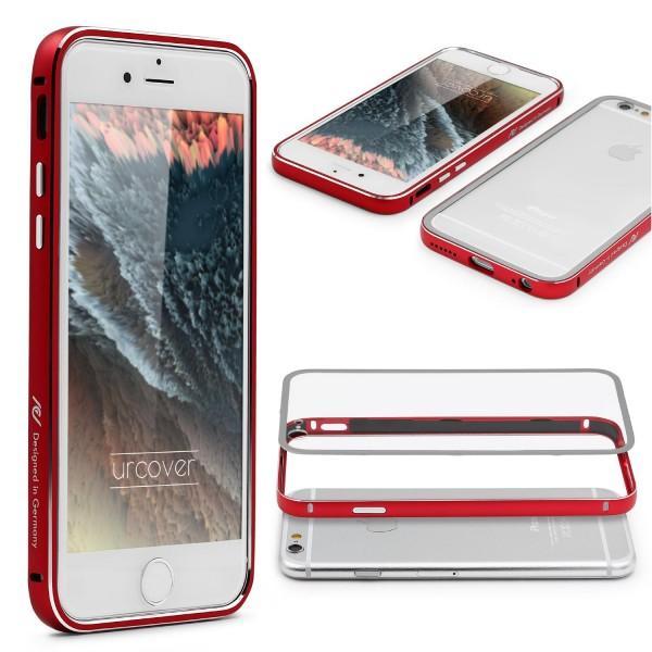 Urcover® iPhone 6 / 6s Alu Bumper Handy Schutz Hülle Hard Case Cover Tasche