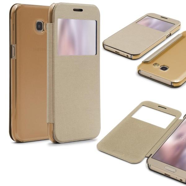 Samsung Galaxy A3 (2017) View Case klar Schutz Hülle Cover Case Etui Handytasche