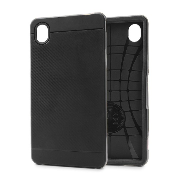 Sony Xperia M4 Back Case Carbon Style Cover Dual Layer Schutzhülle TPU Schale