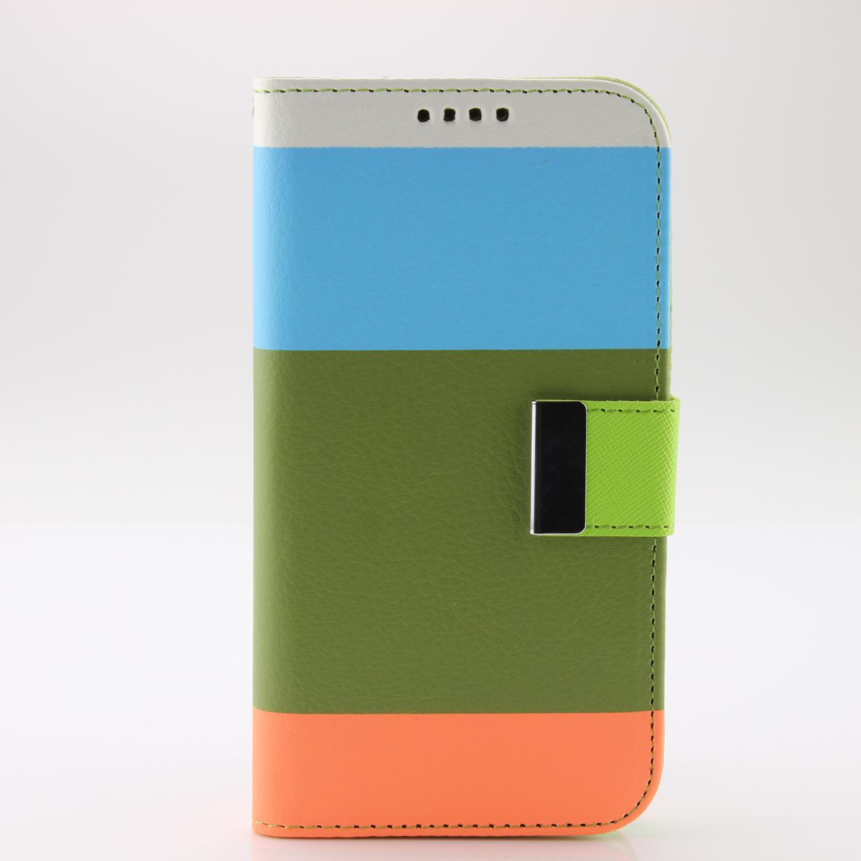 Urcover Samsung Galaxy S5 Wallet Cover Case Kartenfach Handyhülle Standfunktion Flip Book Taschen Galaxy S5 Smartphone Samsung