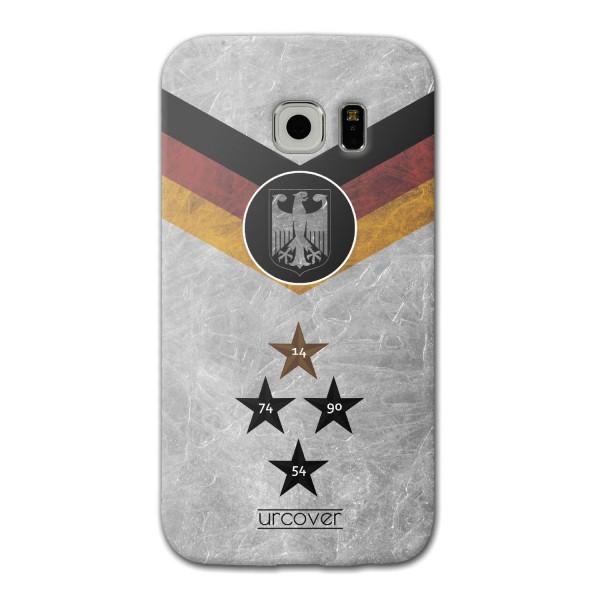 Urcover® Samsung Galaxy S7 Edge Fanartikel Schutz Hülle Fußball Case Land Flagge