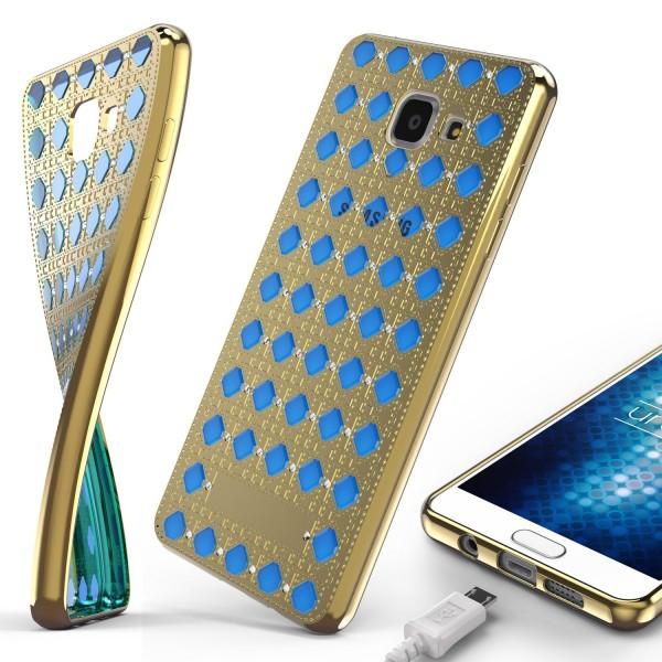 Urcover® Samsung Galaxy A3 (2016) Silikon Back Case Oriental Cover Schutzhülle