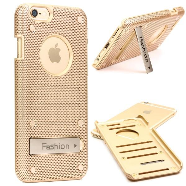 Urcover® Handy Schutz Hülle für iPhone 6 / 6s Back Case Cover mit Standfunktion