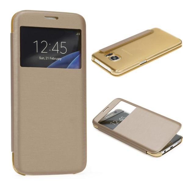 Samsung Galaxy S7 Edge View Case klar Schutz Hülle Cover Case Etui Handytasche