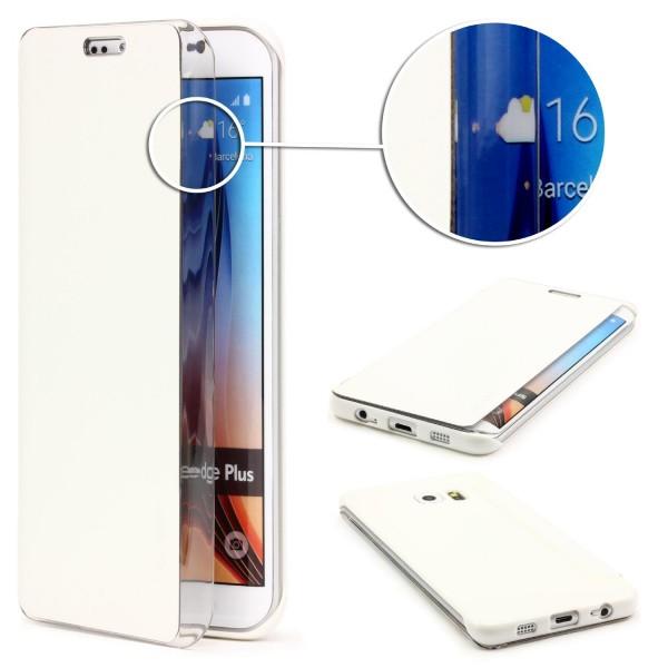 Urcover® Handy Schutz Klapp Hülle für Samsung Galaxy S6 Edge Plus Flip Case Etui