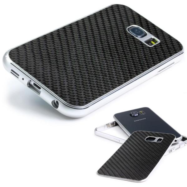 Samsung Galaxy S6 Original Urcover® Echt Carbon Bumper Case Cover Schutz Hülle
