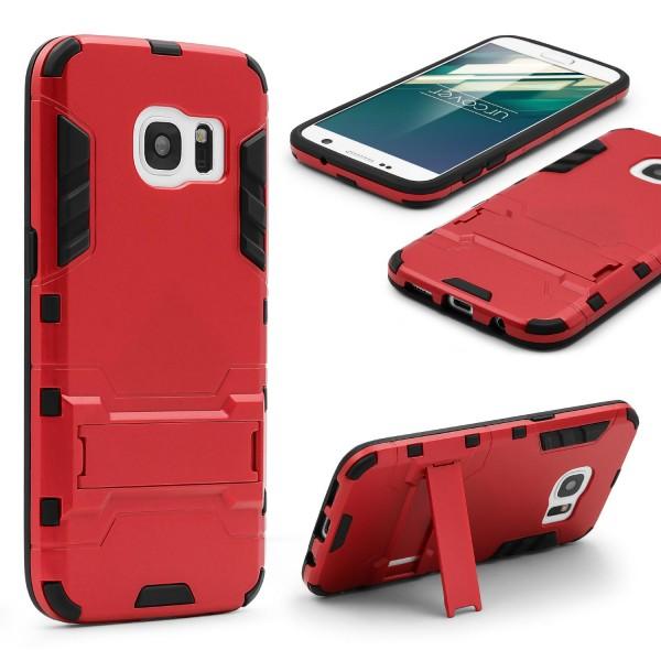 Urcover® Samsung Galaxy S7 Schutz Hülle Case Cover Tasche Steel Series Etui