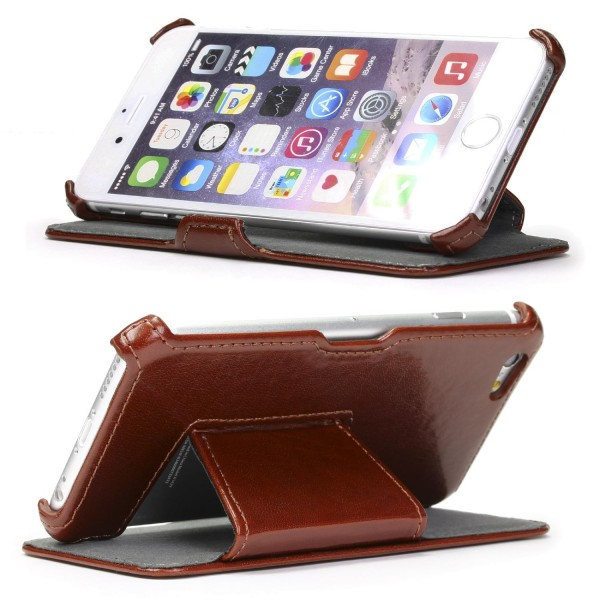 Urcover® Apple iPhone 6 Plus / 6s Plus Schutzhülle Kunstleder Wallet Flip Case