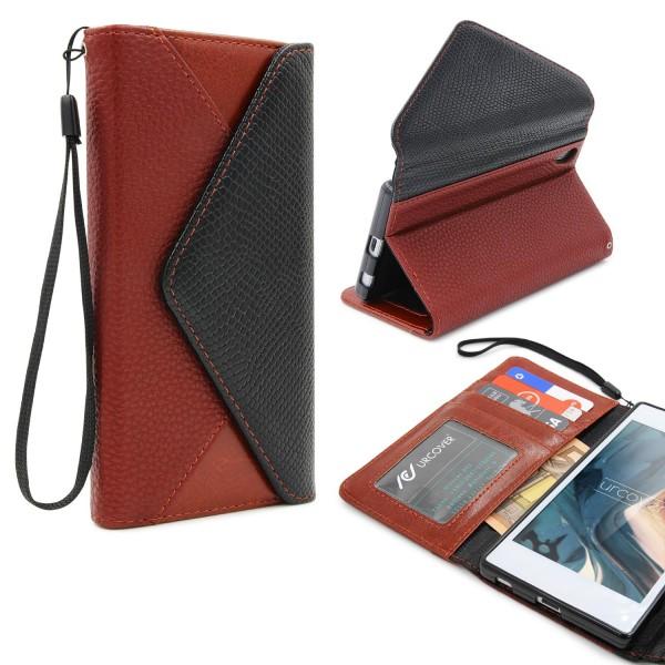 Urcover® Sony Xperia Z5 Schutz Hülle Karten & Geld Fach Case Cover Etui