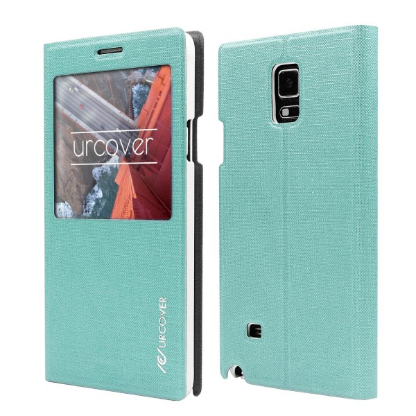 Samsung Galaxy Note 4 View Case Schutzhülle Wallet Cover Etui Tasche Struktur