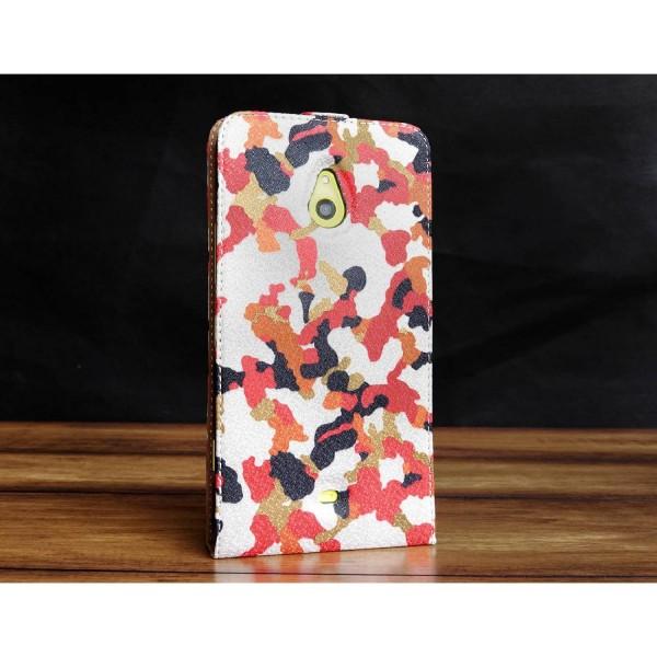 Urcover® Nokia Lumia 1320 Kunststoff Flip Schutzhülle Tarn Optik Case Cover