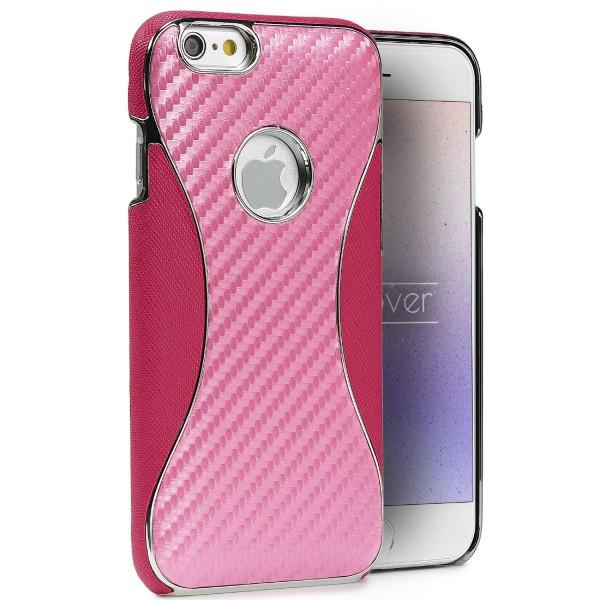 Apple iPhone 6 Plus / 6s Plus Carbon Optik Handy Schutz Hülle Wallet Case Cover