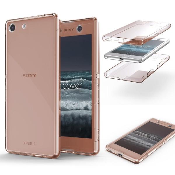 Sony Xperia M5 TPU Case 360 Grad rundum Schutz Hülle Full Etui Cover Touch Case