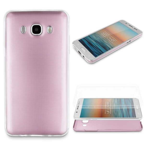 Samsung Galaxy J3 (2015) 360 GRAD RUNDUM SCHUTZ Metalloptik TPU Hülle Cover Case
