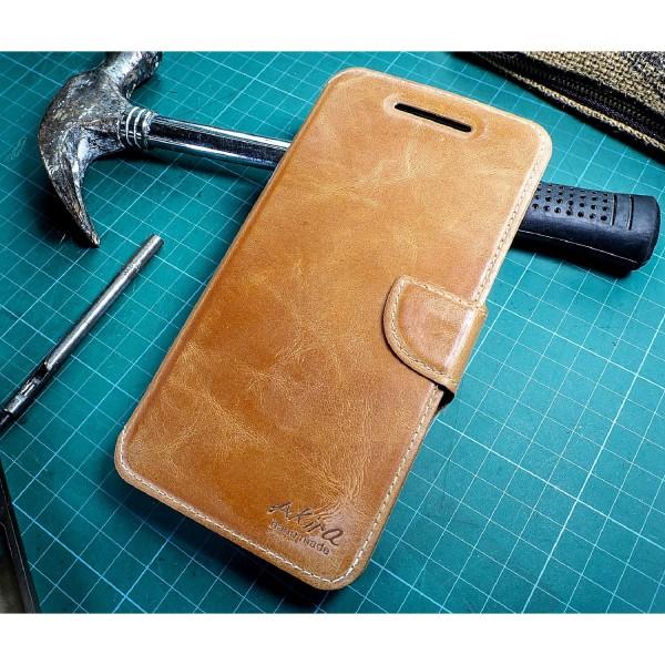 Akira Handmade Echt Leder Handy Schutz Hülle Huawei Nexus 6P Flip Cover Case