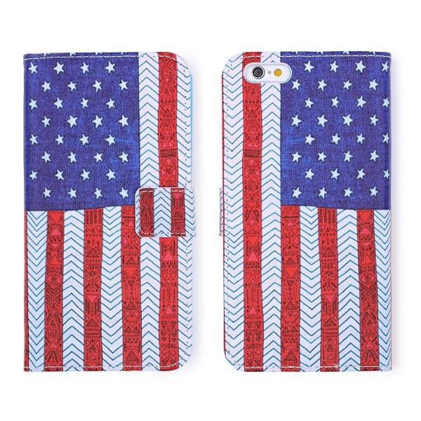 Apple iPhone 6 Plus / 6s Plus Handy Schutz Hülle Cover Case Wallet Klapphülle