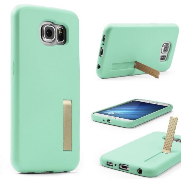 Urcover® Samsung Galaxy S6 Schutz Hülle mit Standfunktion Soft Case Cover Tasche