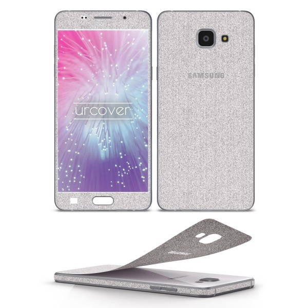 Samsung Galaxy A7 (2016) Glitzer Folie Aufkleben Regenbogen Farbig Diamond Bling