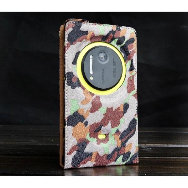 Urcover® Nokia Lumia 1020 Tarn Optik Schutz Hülle Case Cover Etui Flip Wallet