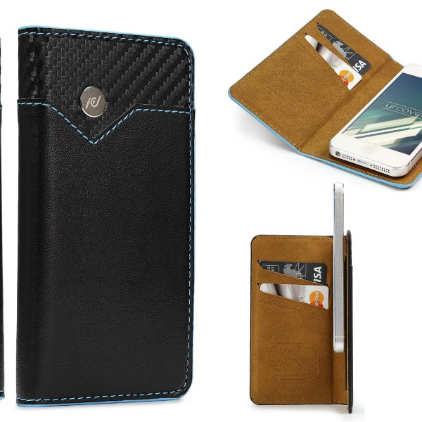 Urcover® Apple iPhone 5 / 5s / SE Schutzhülle Kartenfach Wallet Flip Case Cover