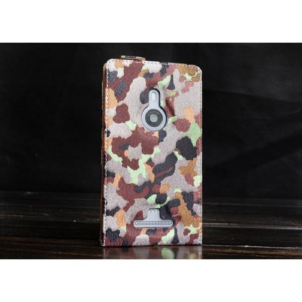 Urcover® Nokia Lumia 925 Tarn Optik Schutz Hülle Case Cover Etui Flip Wallet