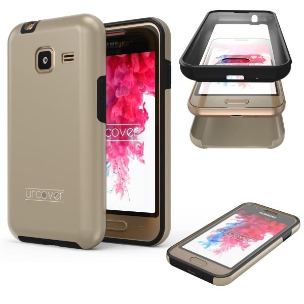 Samsung Galaxy J1 Mini Touch Case 2018 Handy Schutz Hülle 360° Rundumschutz