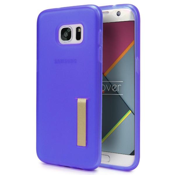 Urcover® Samsung Galaxy S7 Edge Schutz Hülle mit Standfunktion Soft Case Cover