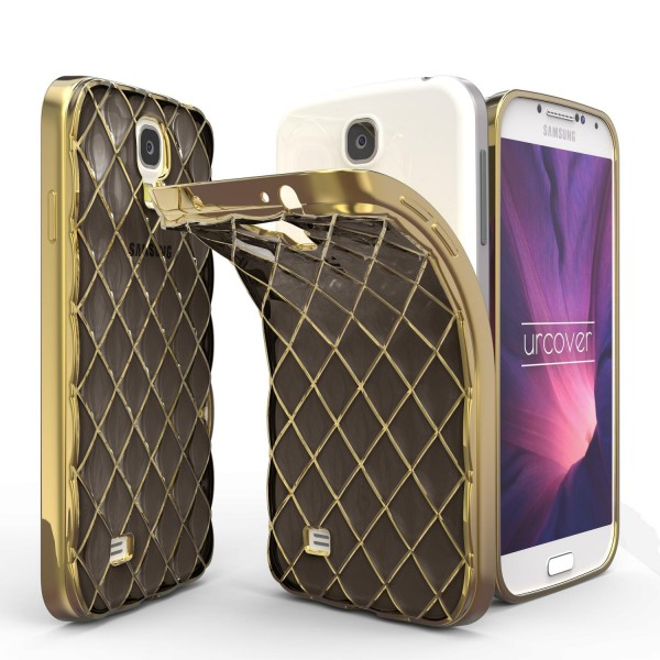 Urcover® Samsung Galaxy S4 Schutz Hülle Quilted Diamond Design Case Cover