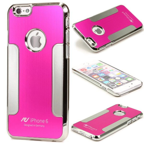Urcover® Apple iPhone 6 / 6s Schutz Hülle Aluminium Back Case Cover Tasche Chrom