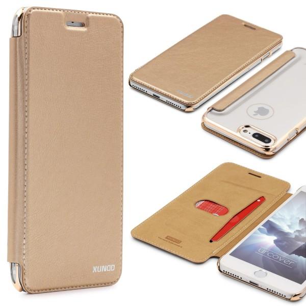 Apple iPhone 7 Plus Schutzhülle Wallet Klapp Cover Flip Case Tasche Etui Bumper
