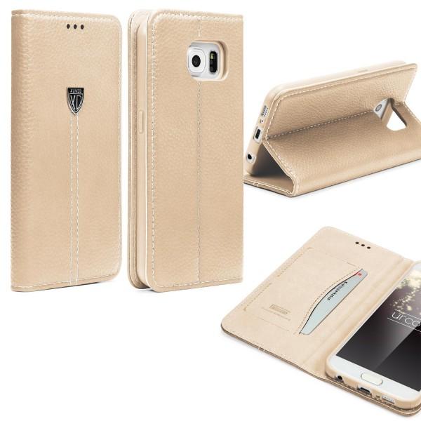 Samsung Galaxy S6 Schutz Hülle Wallet Case Flip Cover Kartenfach Standfunktion