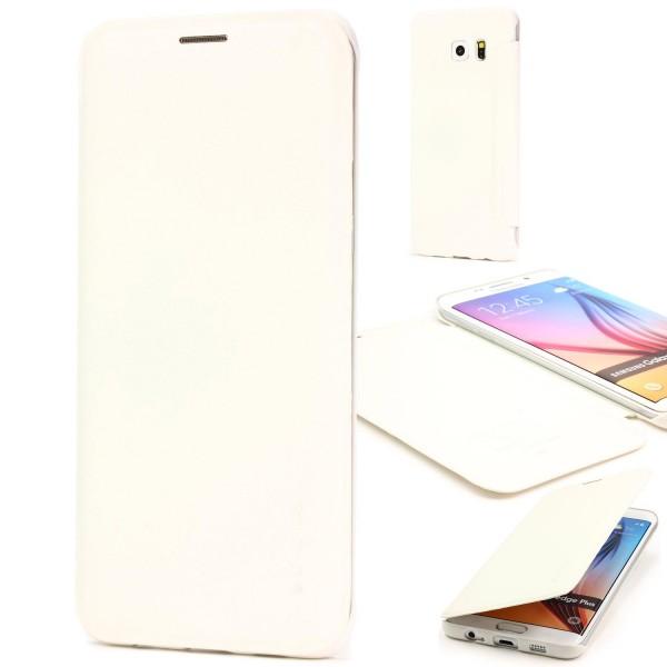Urcover® Handy Schutz Hülle Samsung Galaxy S6 Edge Plus Hard Flip Case Cover