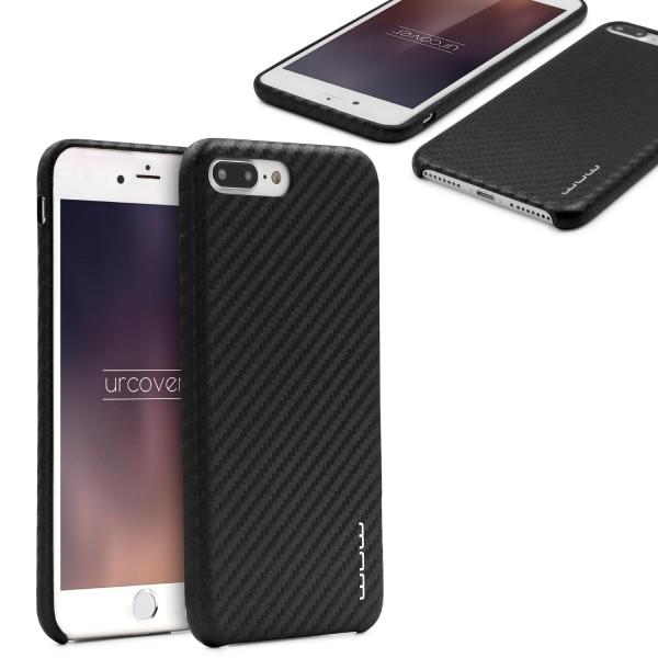 Urcover® Apple iPhone 7 Plus Handy Schutz Hülle in Carbon Optik Back Case Cover