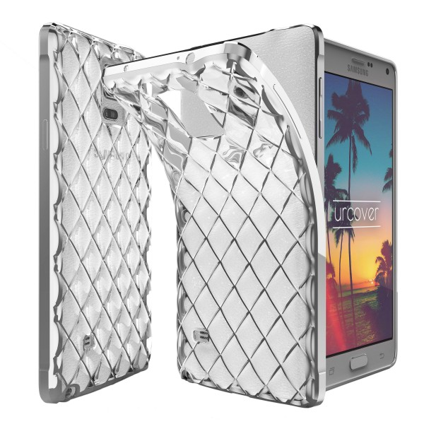 Urcover® Samsung Galaxy Note 4 Schutz Hülle Quilted Diamond Design Case Cover