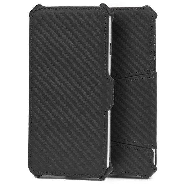 Urcover® Apple iPhone 6 / 6s Handy Schutz Hülle Wallet Carbon Optik Case Cover