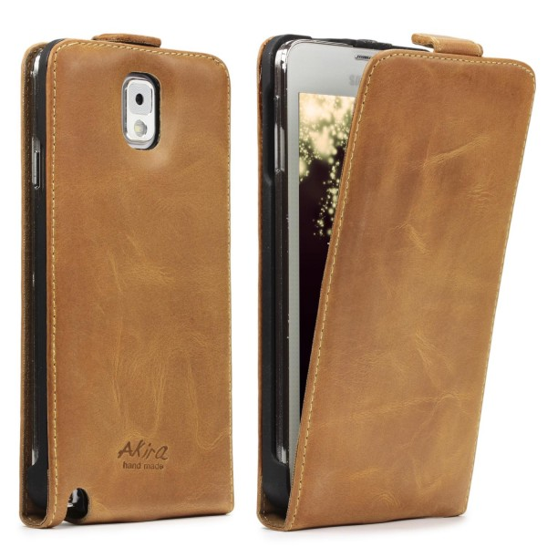 Akira Samsung Galaxy Note 3 Handmade Echtleder Klapp Schutzhülle Wallet Case