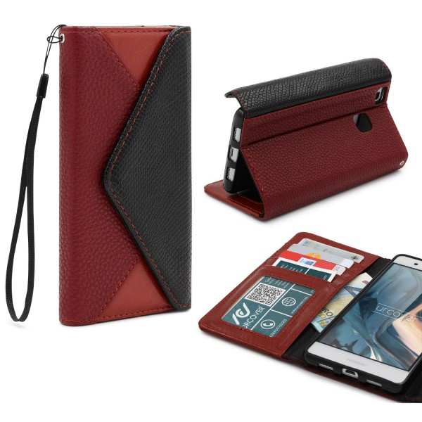 Urcover® Huawei P9 Lite Schutz Hülle Karten & Geld Fach Case Cover Etui