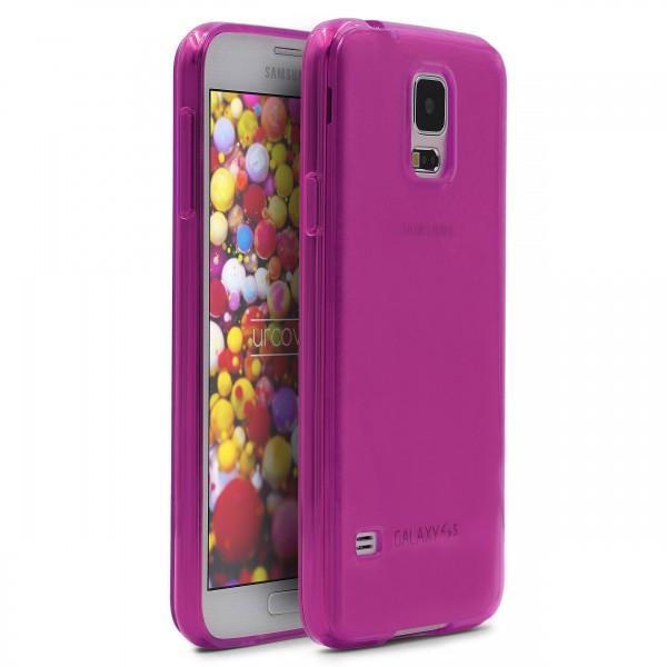 Urcover® Samsung Galaxy S5 Schutz Hülle Soft Silikon Case Cover Tasche Clear