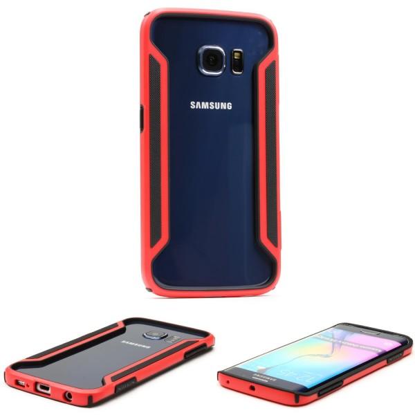 Urcover® Samsung Galaxy S6 Edge Kunststoff Schutzhülle Backcase Cover Bumper