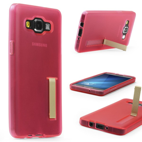 Urcover® Samsung Galaxy A7 (2015) Schutz Hülle mit Standfunktion Soft Case Cover
