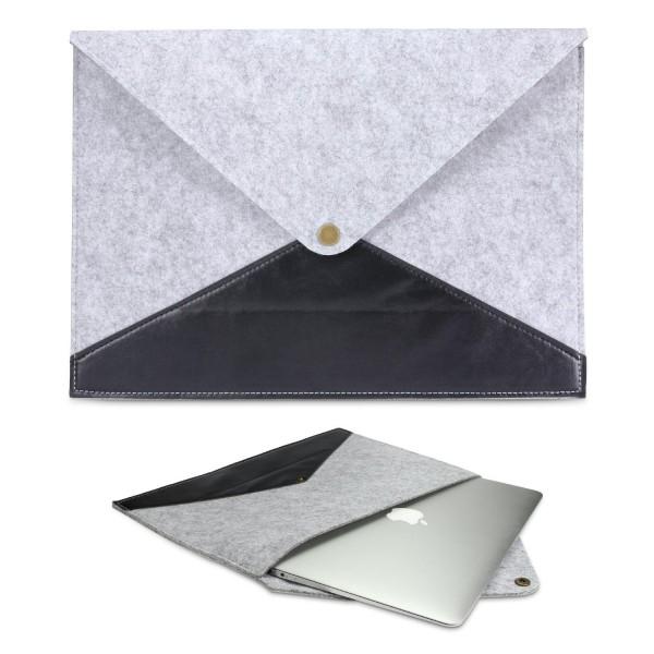 Urcover® Universal 14,1 Zoll Laptop Tasche Smart Case Cover Sleeve Grau/Beach