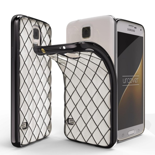 Urcover® Samsung Galaxy S5 Schutz Hülle Quilted Diamond Design Case Cover