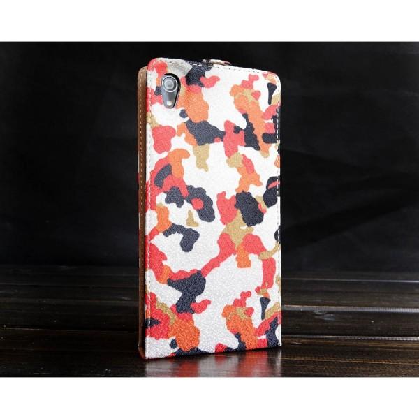 Urcover® Sony Xperia Z2 Kunststoff Flip Schutzhülle Tarn Optik Case Cover